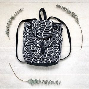 Handbags - Aztec Print Woven Backpack
